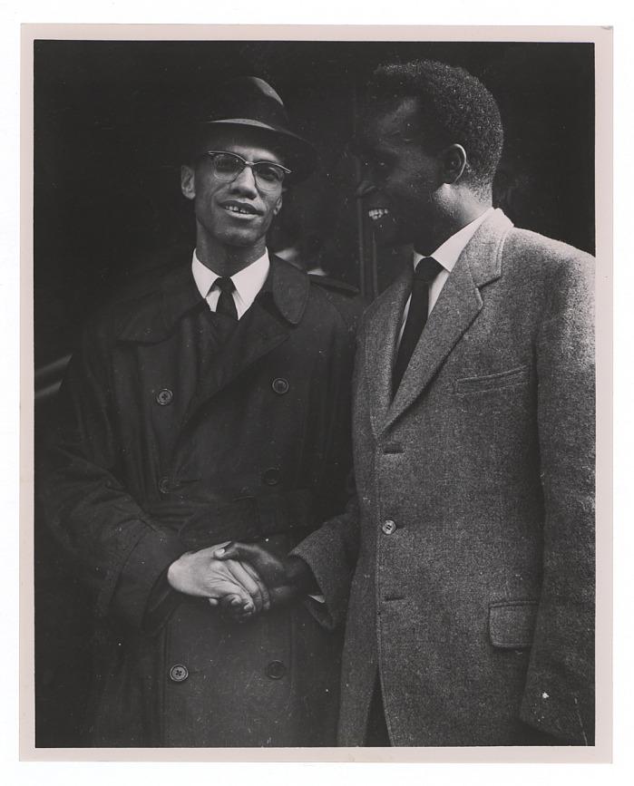 Zambian President Kenneth Kaunda and Malcolm X in Harlem New York during 1960