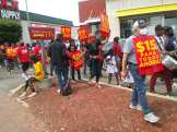Detroit Fight for $15 picket at McDonald's on July 20, 2021