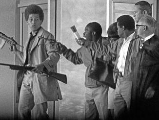 Jonathan Jackson and his comrades on Aug. 7, 1970 in Marin County, California