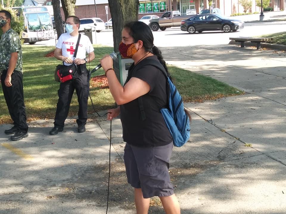 Armani Sharpe rally with Moratorium NOW! Coalition speaker