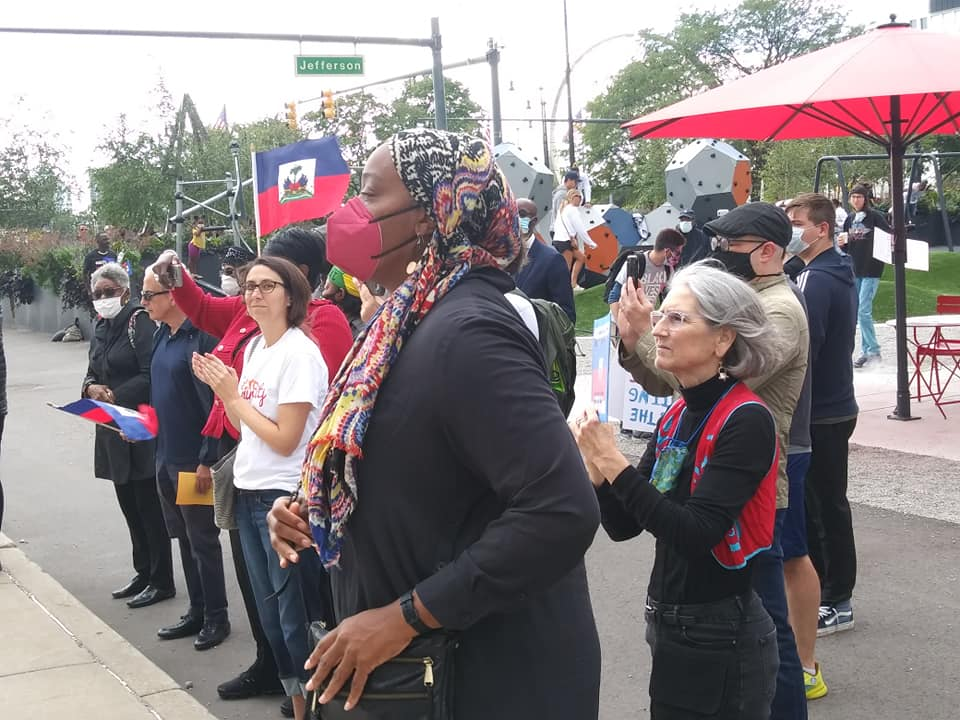 Detroit demonstration in solidarity with Haiti migrants, Sept. 26, 2021