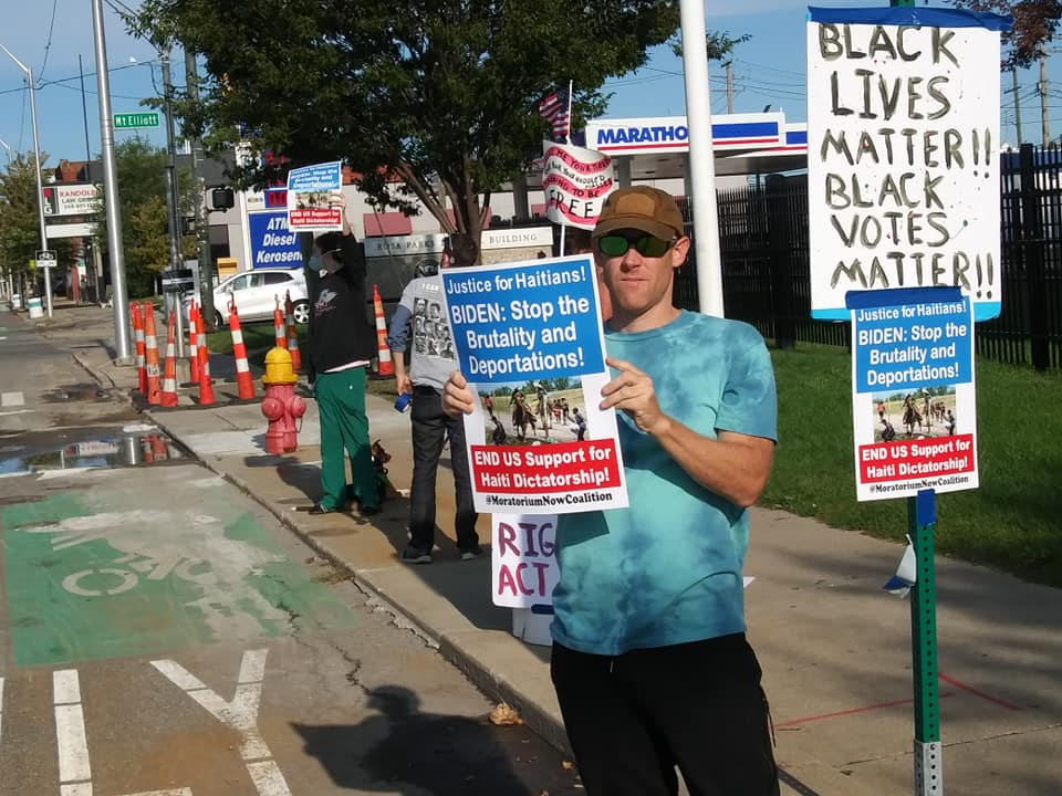 Detroit demonstration in solidarity with Haitian migrants, Sept. 24, 2021