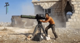 ISIS fighter using U.S. TOW anti tank missle system.