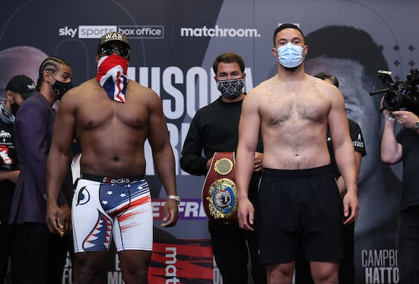 Chisora V Parker Weigh In