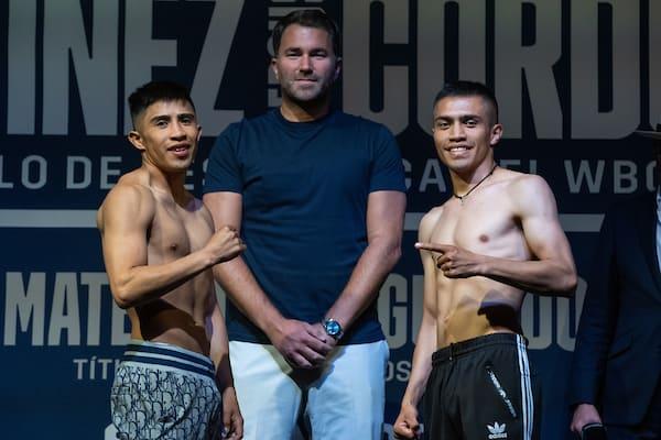 Julio Cesar Martinez Vs Joel Cordova Weigh In
