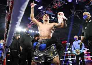 Teofimo Lopez Celebration
