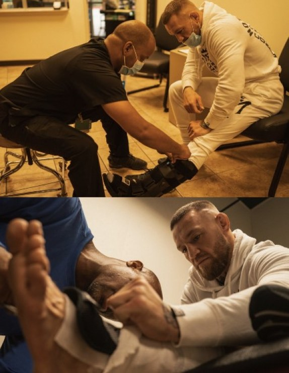 Conor McGregor has published evidence of an injury before the fight with Dustin Poirier at UFC 264