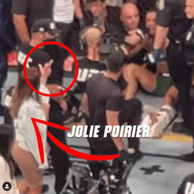 Dustin Poirier's wife showed Conor McGregor the middle finger in the octagon