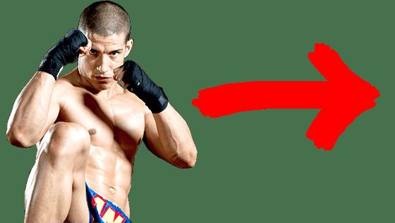 Image of muay thai madison kickboxer ready to strike