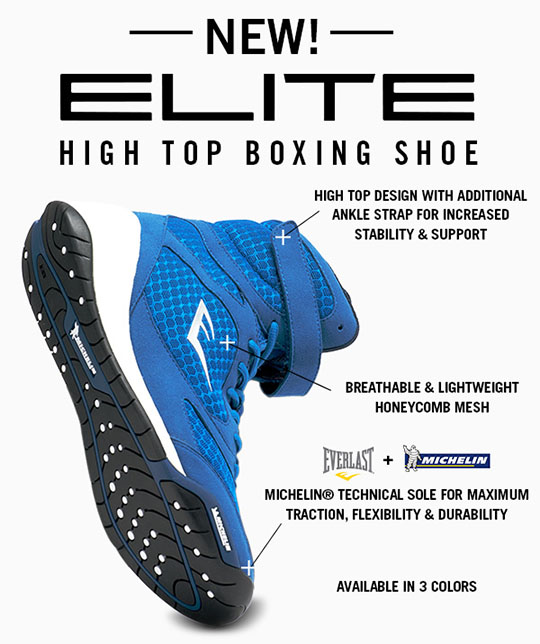 New Everlast Elite High Top Boxing Shoe