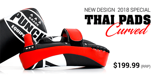 New Punch Equipment 2018 Curved Thai Pads