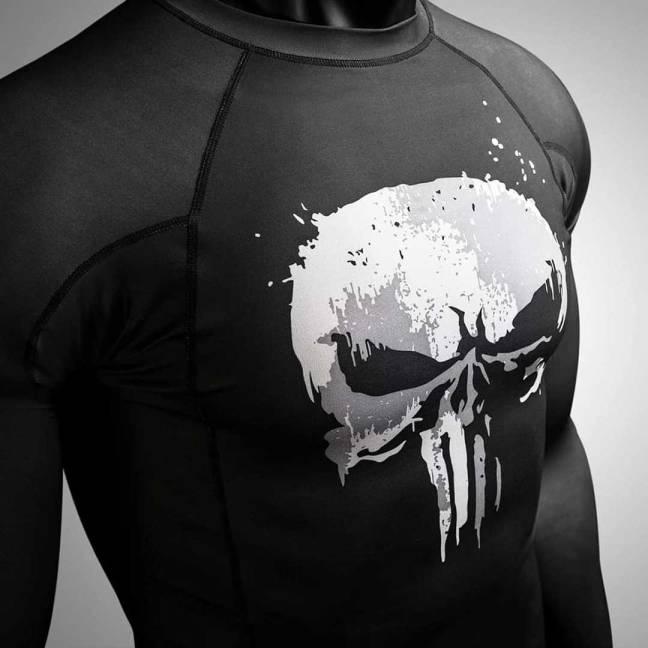 Hayabusa X Marvel, Marvel Hero Elite: The Punisher Short Sleeve Rash Guard Review