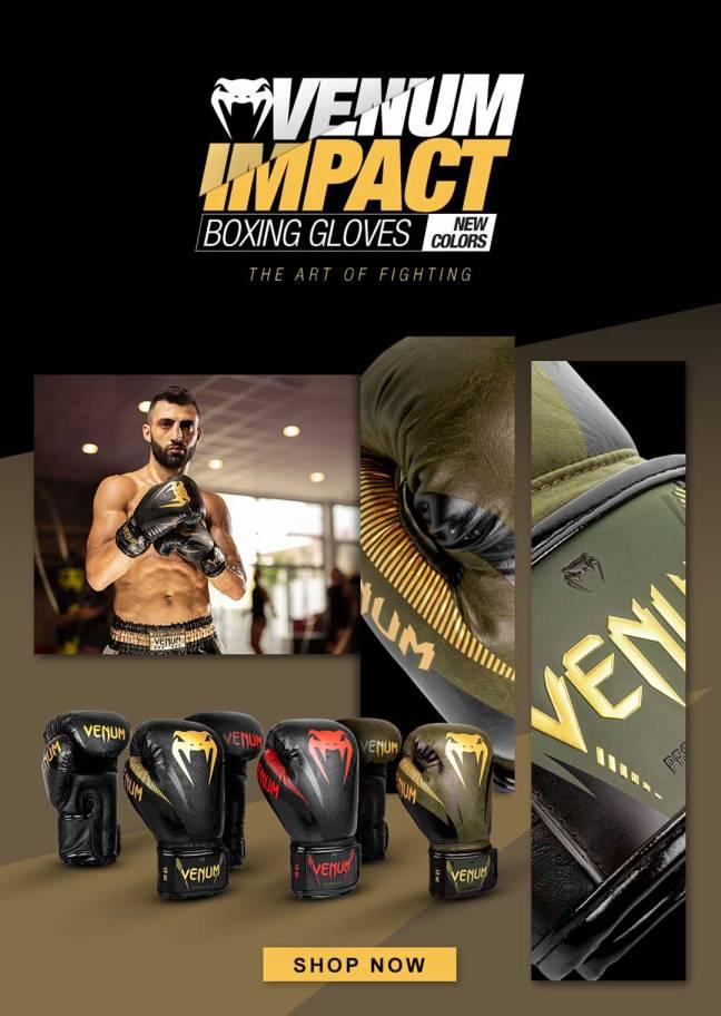 Venum Impact Boxing Gloves (New Colours)