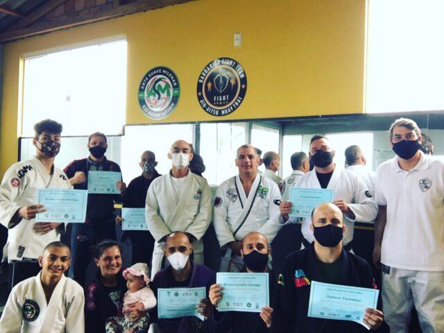 Capacitação de instrutores de Jiu-jitsu no sul do país mostrou as vantagens de aplicar o método inovador Fight & Smart nas academias. Fonte: Assessoria/Foto: Divulgação