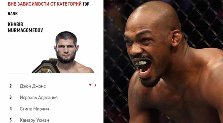 John Jones reacted to the first place of Khabib Nurmagomedov in the ranking of the best fighters