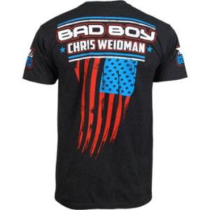 Chris Weidman Bad Boy UFC walkout shirt back