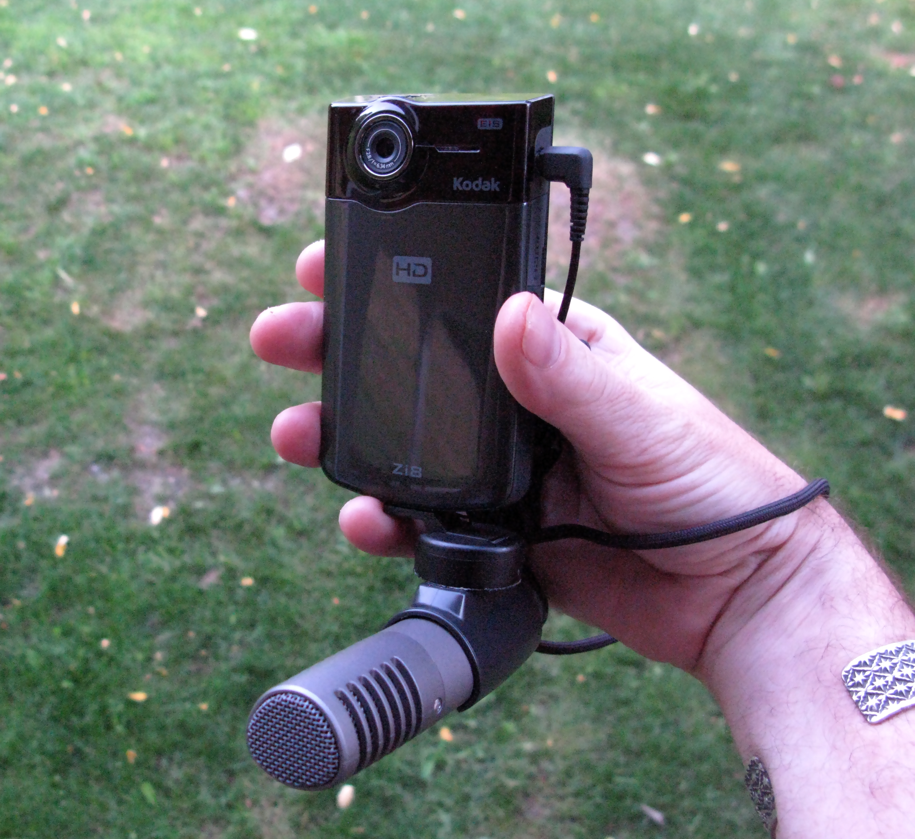 Kodak Zi8 With Sony Mic Attachment