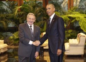 Obama and Castro - Historic Meeting