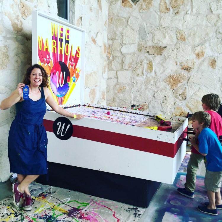 Austin Maker Faire | Art Pinball Machine | Wee Warhols, Figment Creative Labs, action art