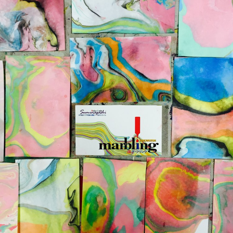 marbling paper, holiday cards, Wee Warhols, Austin TX, how to marble paper