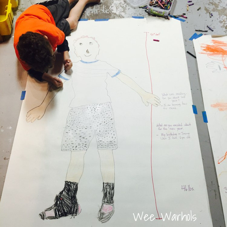 Happy New Year, New Year Art Projects, Wee Warhols, Austin TX, New Years eve art, art classes
