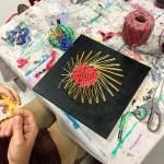 string art, ladies art night, Wee Warhols, Austin TX