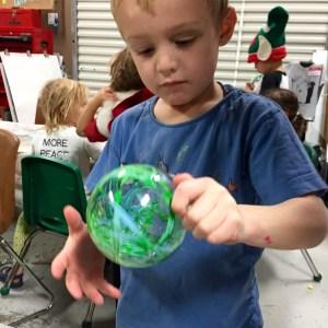 Ornaments, Wee Warhols, Austin TX, Christmas ornaments, action art