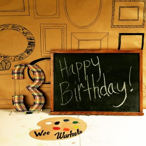 Wee Warhols, art party, art birthday party, event space, austin TX, book a children's party