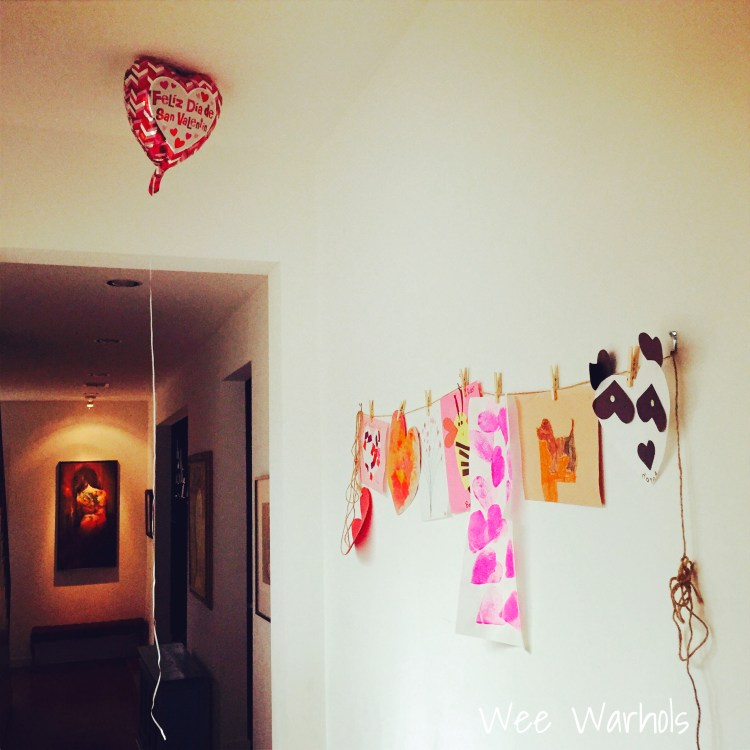 Valentines day, display kids art, Wee Warhols, Austin TX