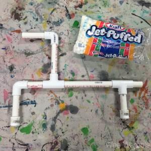 marshmallow shooter, PVC, building, marshmallow gun, Wee Warhols, Austin