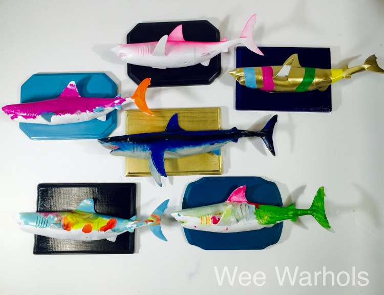 faux taxidermy, trophy fish, Wee Warhols, Austin TX, Art Classes, faux taxidermy dit, boys room