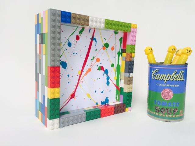 Wee Warhols, Lego frame, Austin TX, Lego, Frame, art display