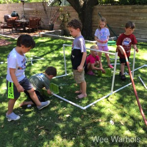 PVC forts , water system PVC pipe, building, construction, engineering, early childhood education, Wee Warhols, Austin