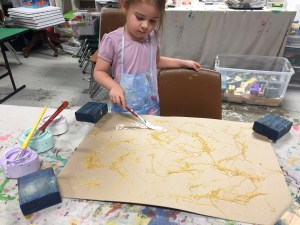 texture in painting, process art, pasta, Wee Warhols, Austin, Texas