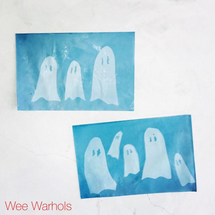 Sun print. cyanotype, Austin, Wee Warhols, Sun Prints, Alt process, c