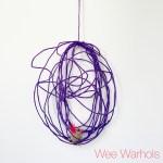 Wee Warhols, Austin, yarn, air plants, plant holder