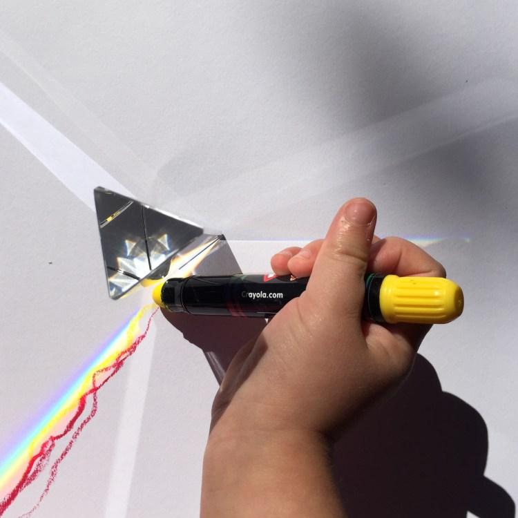light, prism, prisms, STEAM KIDS, Wee Warhols, Austin