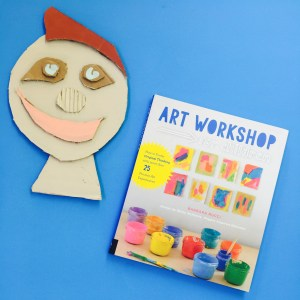 Art Workshop for children, Barbara Rucci, Betsy McKenna, process art book, kids art, Reggio inspired, Wee Warhols, Austin, book review, cardboard collage faces