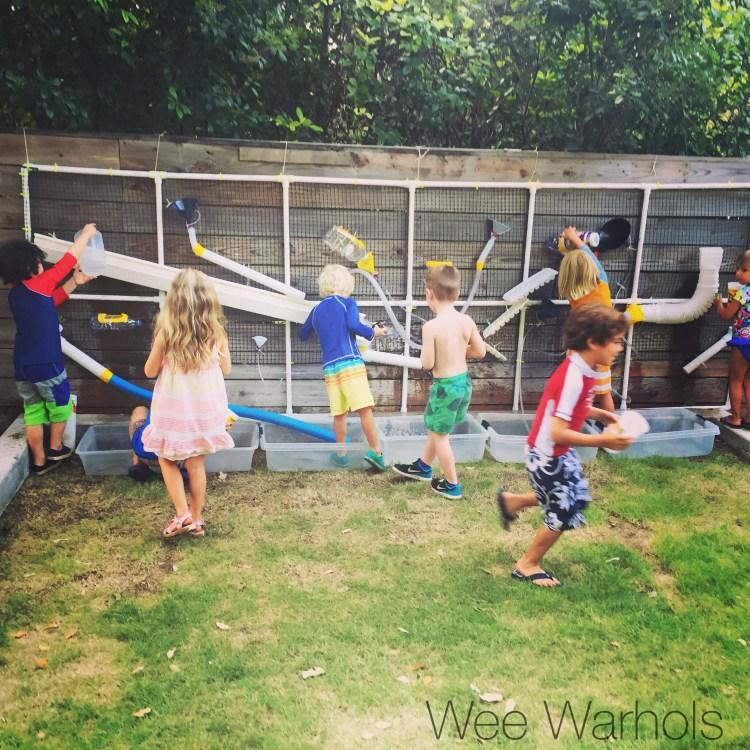Wee Warhols, art class, austin, water wall, engineering project, summer fun, STEAM