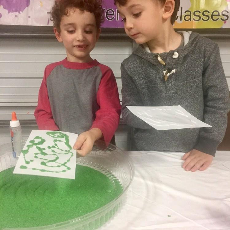Process Art, Sand Art, Wee Warhols, Austin Texas, art class, kids art activities