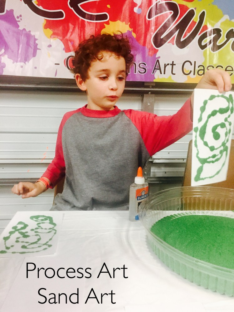 Process Art, Sand Art, Wee Warhols, Austin Texas, art class, kids art activities