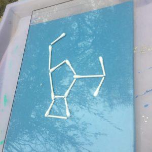book inspired, STEAM, Wee Warhols, Austin, TX, Dr Seuss, early education, ece, constellations, sun prints, kids art