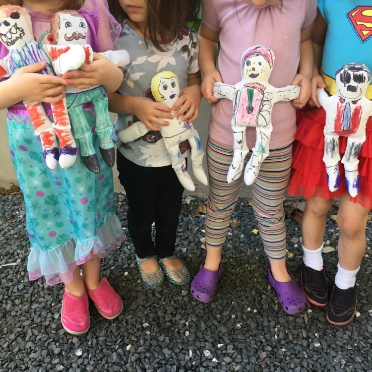 no sew muslin dolls, kids craft, easy, activitie, DIY, Figment Creative Labs, Austin, TX , Art Class