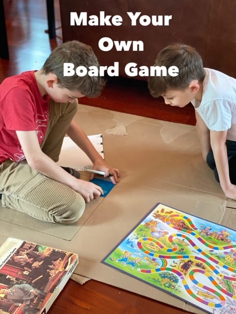 DIY Game Board for family game night