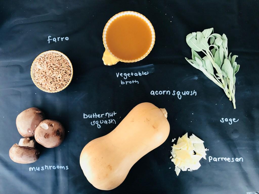 Butternut Squash & Mushroom Farro Risotto
