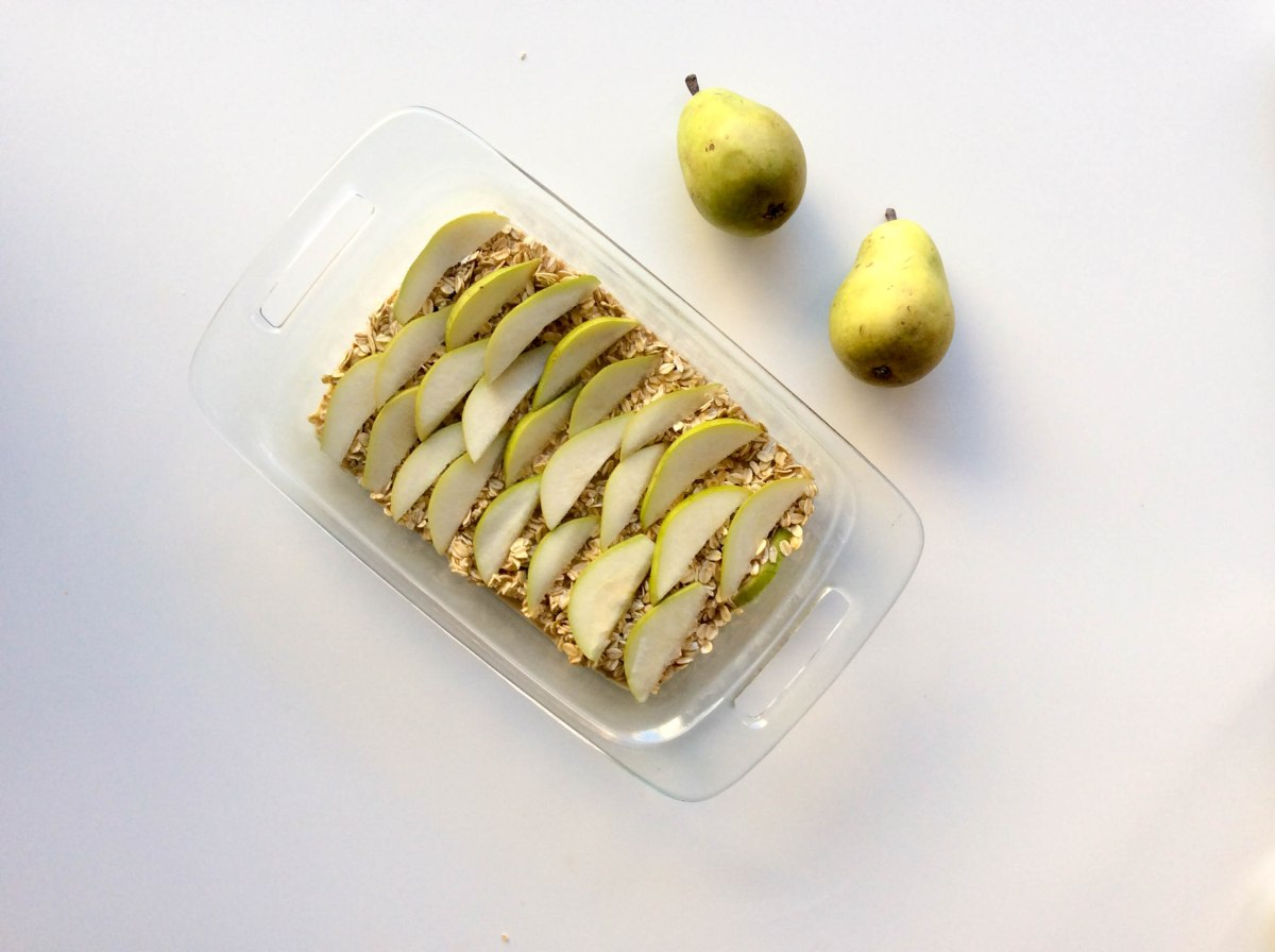 almond pear oatmeal bake (1 of 1)-4