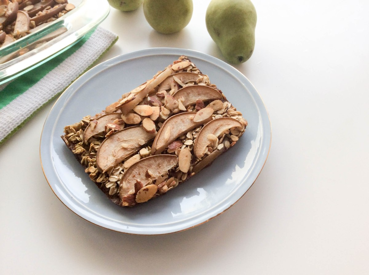 almond pear oatmeal bake (1 of 1)-7