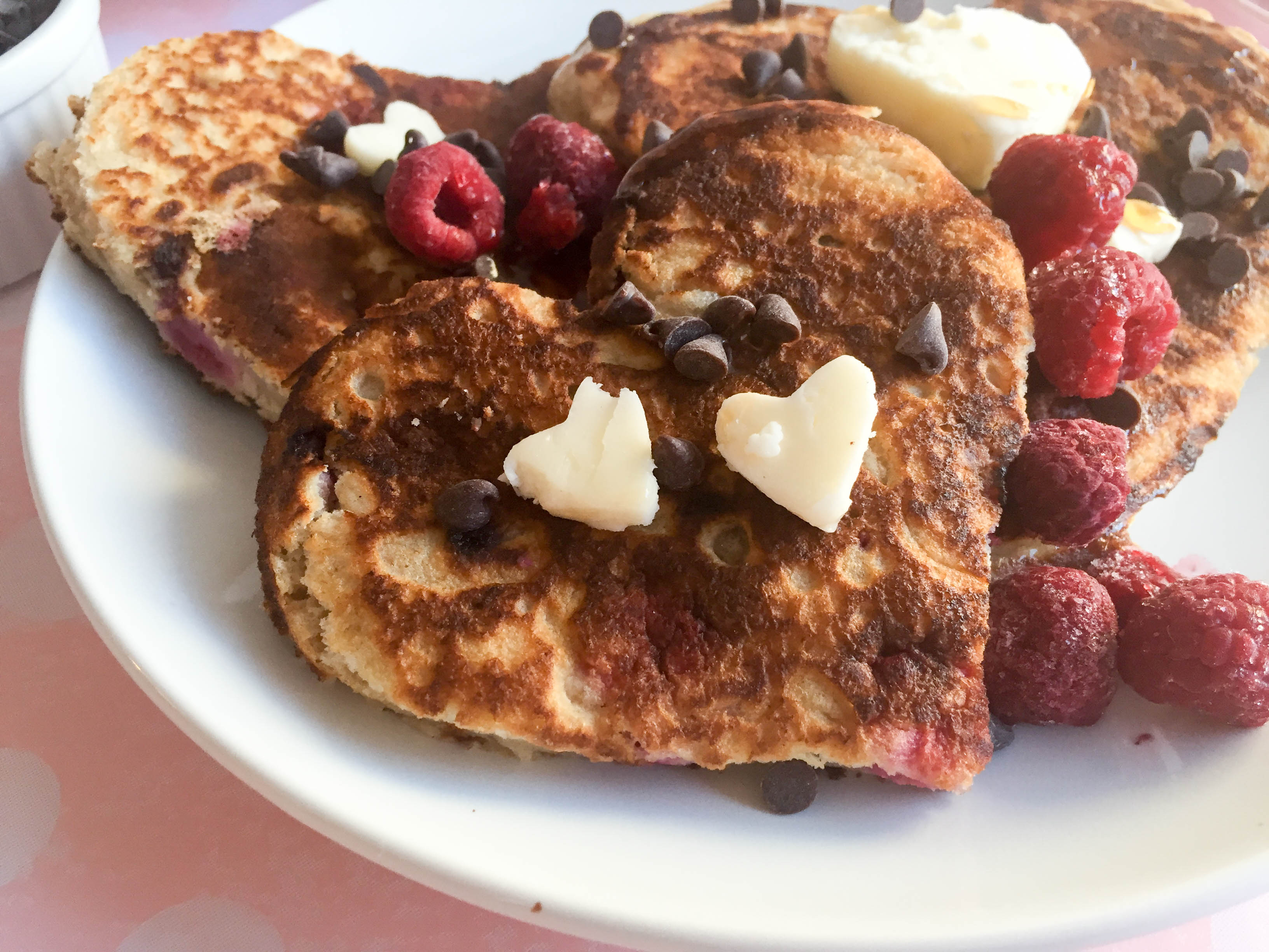 Raspberry Chocolate Chip Pancakes