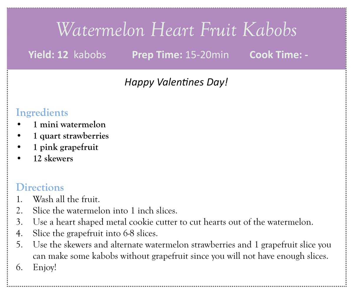 Watermelon Heart Fruit Kabobs