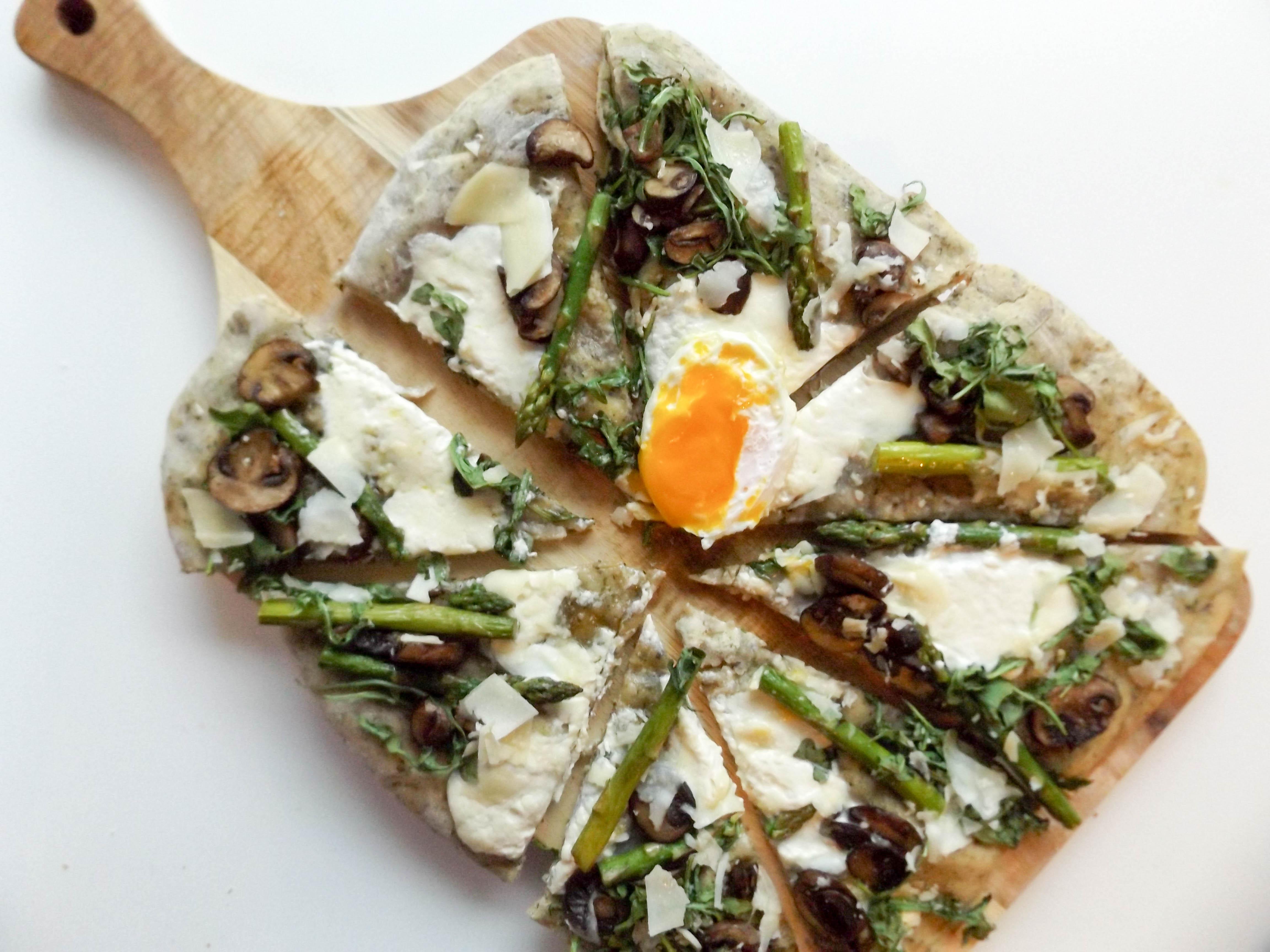 Asparagus & Mushroom Pizza